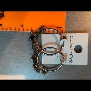 "Coldwater Creek Jewelry - Bracelet and earrings ""Gilded Berries "" silvertone"